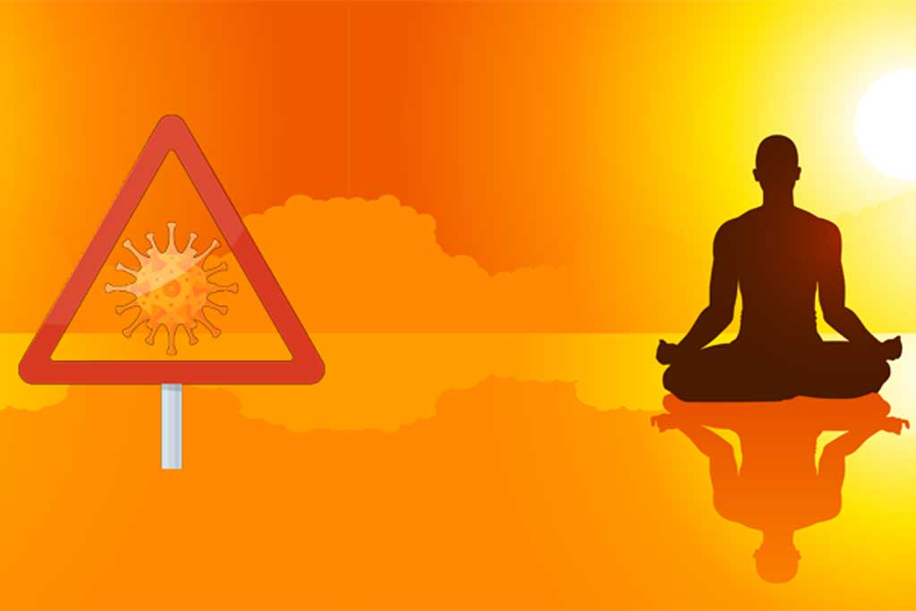 COVID19 Virus and Meditation Image
